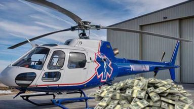 Air methods helicopter money